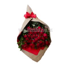 30 Rosas rojas en ramo (AFRO-215).