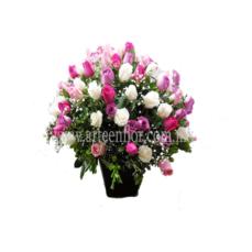 Arreglo-de-100-rosas-en-colores-(Mod-203)
